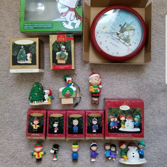 peanuts christmas collectible ornaments collection